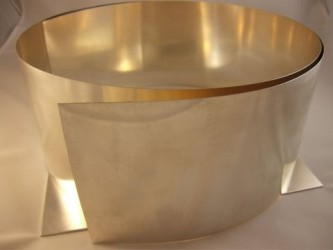 Blacha ze srebra pr 930 gr. 0.45 mm szer. 100 mm dł. 100 mm