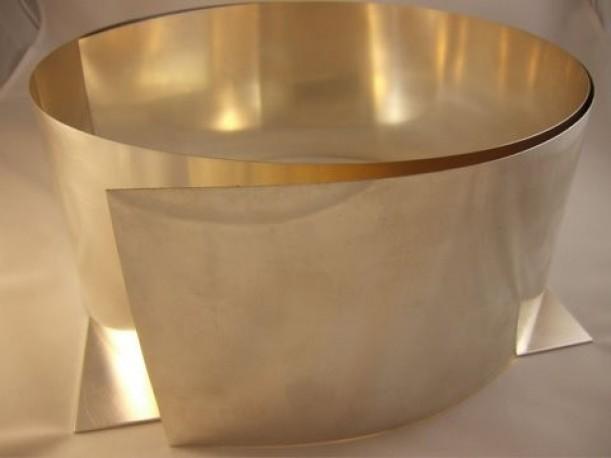 Blacha ze srebra pr 930 gr. 0.4 mm szer. 100 mm dł. 100 mm
