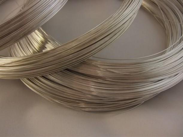 Drut srebrny z lutem w środku pr. 940 fi 0.8 mm o dł. 0.5 mb