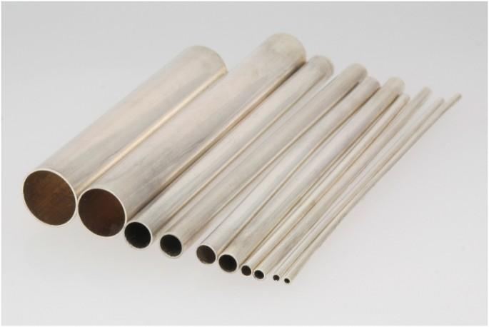 Rurka srebrna fi 7.0 mm próby 935 odlew ciągły/bez szwu