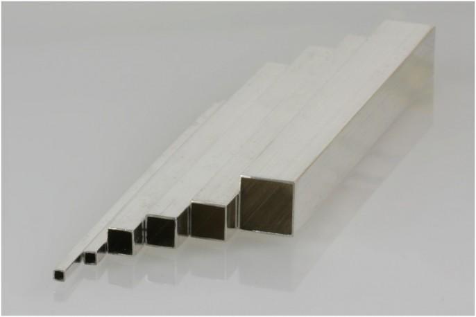 Profil srebrny pusty kwadrat 7 mm pr. 935 odlew ciągły/bez szwu