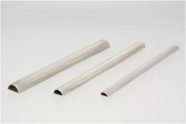 Profil srebrny pusty półwałek 10 mm na 5 mm pr. 935 odlew ciągły/bez szwu