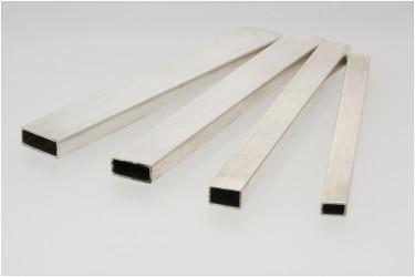 Profil srebrny pusty prostokąt 13 mm na 5 mm pr. 935 odlew ciągły/bez szwu