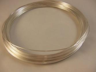 Drut ze srebra pr 930 fi 0.7 mm x 0.5 mb, twardy i sprężysty